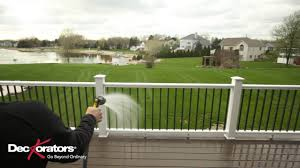 how to clean your composite railing youtube