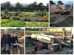 now building a natural play area for gordon castle in morayshire