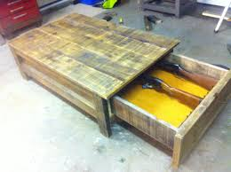 Pallet Furniture Side Table Coffee Table Gun Cabinet Roughly Weathered Pinterest