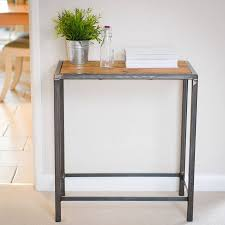 steel and wood table wood and steel industrial side console table