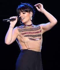 lily allen s most daring outfit yet singer wears flimsy sheer top