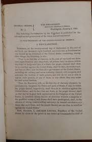 abraham lincoln thanksgiving proclamation text the first war department printing of the emancipation proclamation