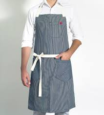 hickory striped chambray apron home kitchen u0026 pantry hedley