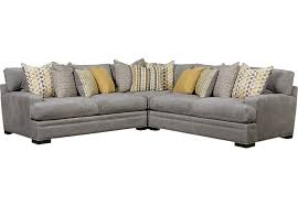 Rooms To Go Sleeper Loveseat Cindy Crawford Home Palm Springs Gray 3 Pc Sectional Sectionals