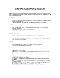 Samples Of A Good Resume by Download How To Build A Good Resume Haadyaooverbayresort Com