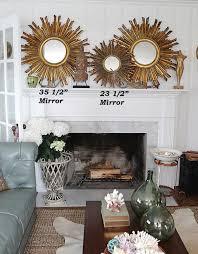 decoration gold sunburst mirror wall decor for living room