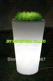 big tall led lighted planter pots led flower pot for garden and