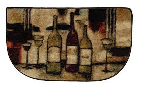 Wine Kitchen Decor by Amazon Com Mohawk Home New Wave Wine U0026 Glasses Rug 1 U00276