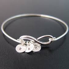 Infinity Bracelet With Initials Personalized Girlfriend Gift Birthday Gift Girlfriend Bracelet
