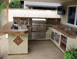 outdoor kitchen furniture barbecue islands by surrounding elements custom outdoor barbecue