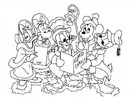 Mickey And Friends Singging Carol For Christmas Disney World Disney World Coloring Pages