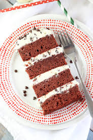 red velvet brownie torte
