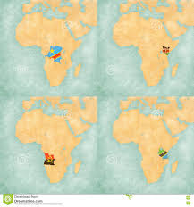 Map Of Tanzania Africa by Map Of Africa Dr Congo Kenya Angola And Tanzania Stock