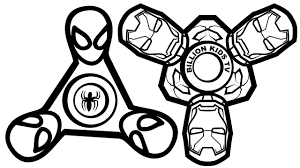 spinner spiderman vs spinner iron man coloring book coloring pages