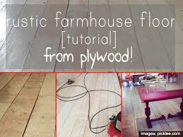 how to farmhouse wide plank flooring from plywood