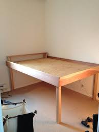 Wooden Platform Bed Frame Plans by Best 25 Tall Bed Frame Ideas On Pinterest Pallet Platform Bed