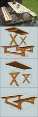 Build A Wooden Picnic Table by Best 20 Picnic Tables Ideas On Pinterest Diy Picnic Table