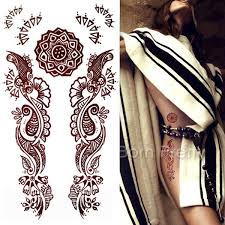 2 12 1 sheet henna tetom tattoo decals mehndi paisley decals