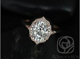 oval engagement ring with halo rosados box mae 9x7mm 14kt gold oval f1 moissanite and