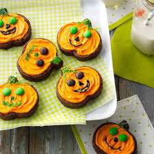 jack o u0027 lantern brownies recipe taste of home