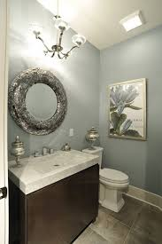 small bathroom wall decor ideas grey wall color and abstract flowers wall in modern small