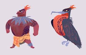 moana character designs on behance