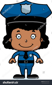 cartoon police officer smiling stock vector 288972335