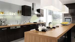 cuisine noir laqué plan de travail bois exemple cuisine noir laque plan de travail bois