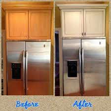 antique white kitchen cabinet refacing from honey maple wood cabinets to antique white