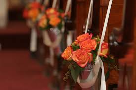 pew decorations for weddings church wedding church wedding decoration ideas