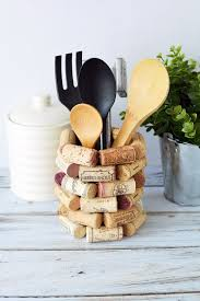 craft ideas for kitchen wine cork craft ideas diy kitchen utensil holder a magical mess