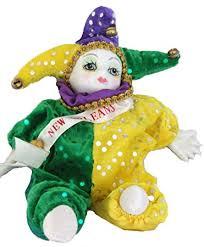 jester mardi gras porcelain baby clown doll mardi gras new orleans purple