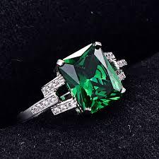 fine emerald rings images Classic 10 75ct nano russian emerald ring emerald cut solid 925 jpg