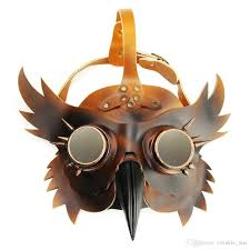 halloween steampunk mask scary party mask steampunk pu masks for
