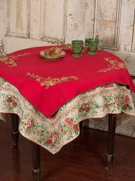 Christmas Table Cloths by Joyful Embroidered Topper Cloth Your Home Christmas Forever