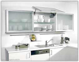 Modren Modern Kitchen Glass Doors Design With Top Shelve And - Kitchen glass cabinets