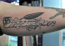 Lettering Arm - arm feather and letters citizen ink flickr