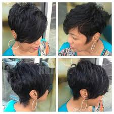 hair products for pixie cut 100 human hair long bangs short black hair wigs layered pixie cut