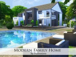 modern family house pralinesims modern family home
