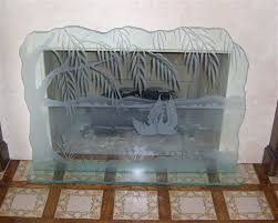 etched glass fireplace screens sans soucie art glass