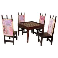 neelkamal dining table induscraft brass fitted 4 seater dining table set dining table