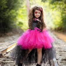 4t Halloween Costumes Girls Girls Black U0026 Pink Rock Star Lo Tutu Halloween Costume