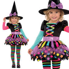 pink witch costume toddler deluxe girls toddler miss matched witch halloween fancy dress