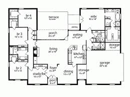 5 bedroom 1 story house plans 5 bedroom house plans shoise