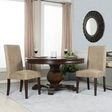 Parsons Dining Room Table Berkley Beige Microfiber Parsons Dining Chairs Set Of 2 201510
