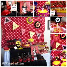 Birthday Party Ideas Homemade Mickey Mouse Theme Party Mickey Mouse Theme Party Mickey Mouse
