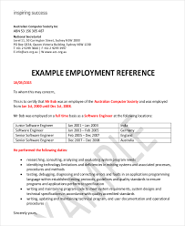 employment reference letter 8 free word excel pdf documents