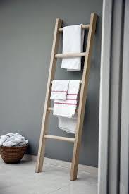 bathroom towel folding ideas wooden towel ladder in both rustic as well as in modern bathroom
