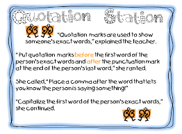 first grade wow quotation station