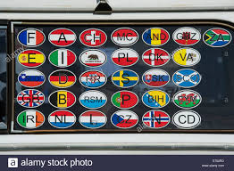 California travel stickers images Country flag travel stickers on the window of a vw campervan uk jpg